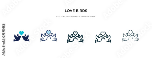 love birds icon in different style vector illustration Canvas Print
