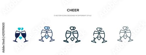 Fotografia cheer icon in different style vector illustration