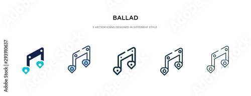 Photo ballad icon in different style vector illustration