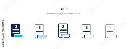 Valokuvatapetti bills icon in different style vector illustration