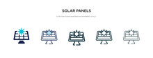 Solar Panels Icon In Different...
