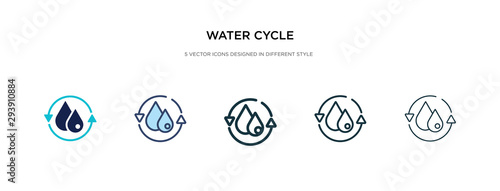 Fotografia water cycle icon in different style vector illustration