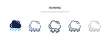 Raining Icon In Different Styl...
