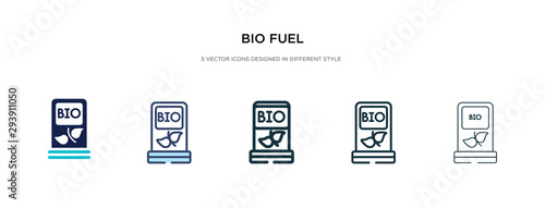 bio fuel icon in different style vector illustration Wallpaper Mural