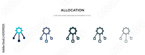 allocation icon in different style vector illustration Wallpaper Mural