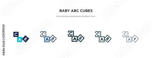 baby abc cubes icon in different style vector illustration Canvas Print