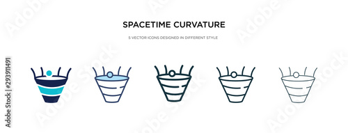 spacetime curvature icon in different style vector illustration Canvas Print