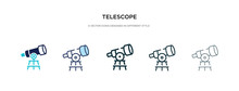 Telescope Icon In Different St...