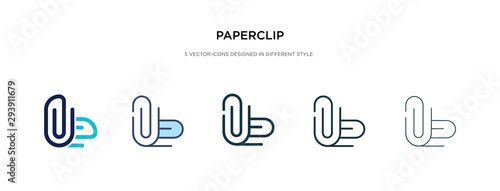Photo paperclip icon in different style vector illustration