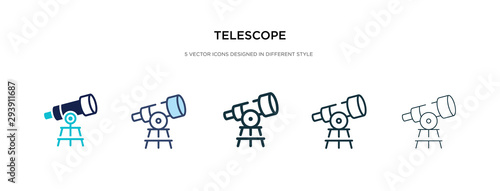 telescope icon in different style vector illustration Fototapete