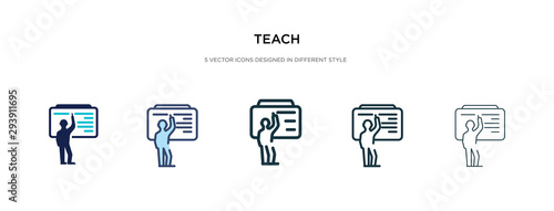 teach icon in different style vector illustration Fototapeta
