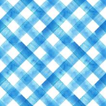 Watercolor Diagonal Stripe Pla...