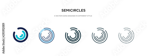 semicircles icon in different style vector illustration Canvas Print