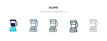 Blend Icon In Different Style Vector Illustration. Two Colored And Black Blend Vector Icons Designed In Filled, Outline, Line And Stroke Style Can Be Used For Web, Mobile, Ui