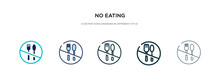 No Eating Icon In Different St...