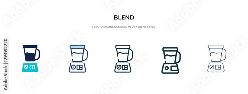 blend icon in different style vector illustration Canvas Print