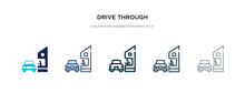Drive Through Icon In Differen...