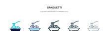Spaguetti Icon In Different Style Vector Illustration. Two Colored And Black Spaguetti Vector Icons Designed In Filled, Outline, Line And Stroke Style Can Be Used For Web, Mobile, Ui