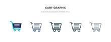 Cart Graphic Icon In Different...
