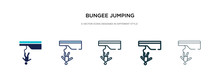 Bungee Jumping Icon In Differe...