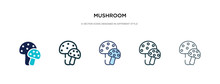 Mushroom Icon In Different Sty...
