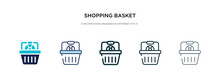 Shopping Basket Icon In Differ...