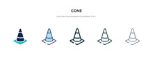Cone Icon In Different Style V...