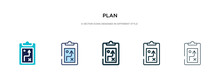 Plan Icon In Different Style V...