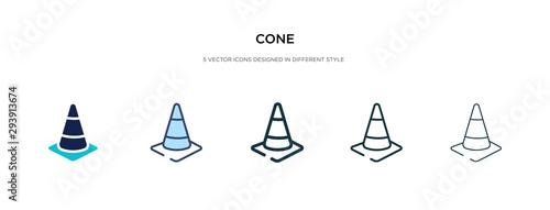 Fototapeta cone icon in different style vector illustration