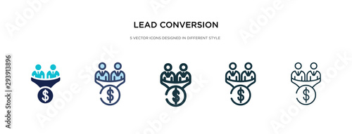 Fotografiet lead conversion icon in different style vector illustration