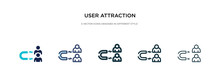 User Attraction Icon In Differ...