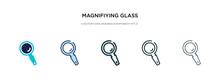 Magnifiying Glass Icon In Diff...