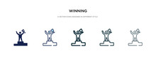 Winning Icon In Different Styl...
