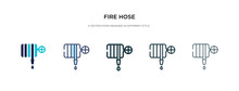 Fire Hose Icon In Different St...