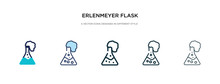 Erlenmeyer Flask Icon In Diffe...