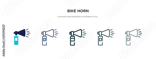 bike horn icon in different style vector illustration Canvas Print