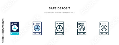 Fototapeta safe deposit icon in different style vector illustration. two colored and black safe deposit vector icons designed in filled, outline, line and stroke style can be used for web, mobile, ui obraz