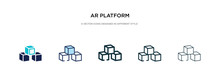 Ar Platform Icon In Different Style Vector Illustration. Two Colored And Black Ar Platform Vector Icons Designed In Filled, Outline, Line And Stroke Style Can Be Used For Web, Mobile, Ui