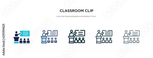 classroom clip icon in different style vector illustration Wallpaper Mural