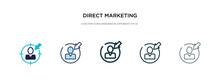 Direct Marketing Icon In Diffe...
