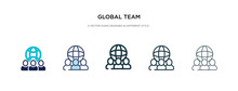 Global Team Icon In Different ...
