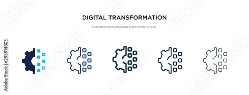 Fotografía digital transformation icon in different style vector illustration