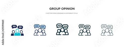 Photo  group opinion icon in different style vector illustration