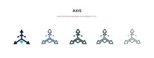 Axis Icon In Different Style V...