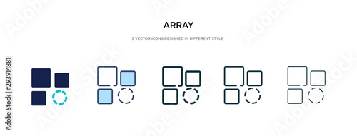 Photo array icon in different style vector illustration