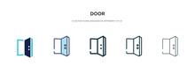 Door Icon In Different Style V...