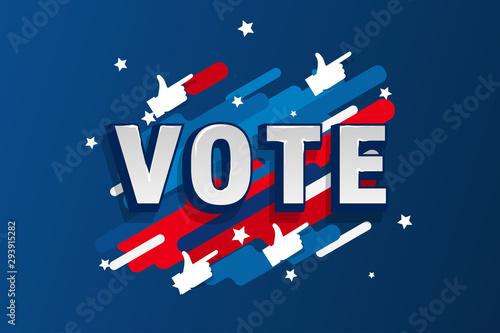 Valokuva  American patriotic background election day