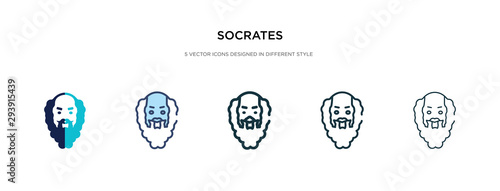 socrates icon in different style vector illustration Canvas Print
