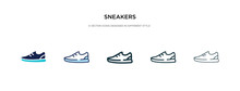 Sneakers Icon In Different Sty...