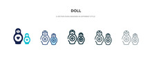Doll Icon In Different Style V...
